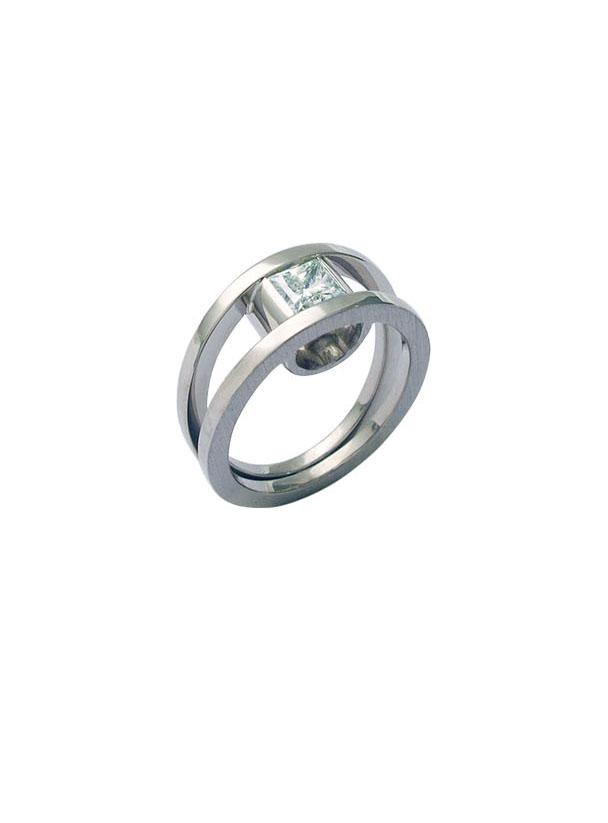 Diamantring 0,62ct , 18 karat Weißgold