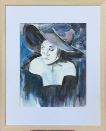 Aquarell, 50 x 50 cm