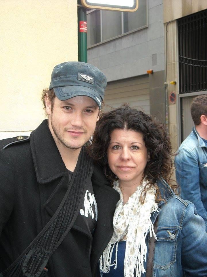 Isabel Campos - con Dani en el musical en Valencia de La Bella y la Bestia