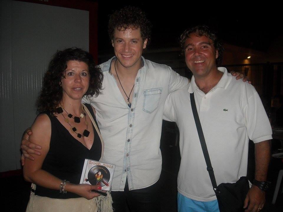 Isabel Campos - con Dani en el concierto de la Vilajoiosa