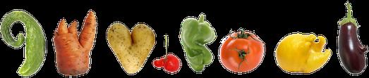 nicht perfektes Gemüse