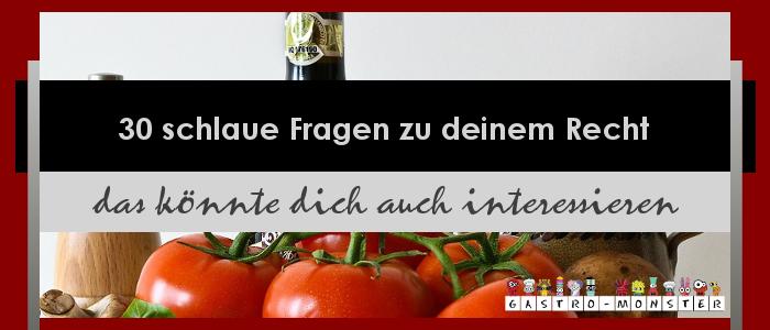 Recht für Auszubildene Gastronomie