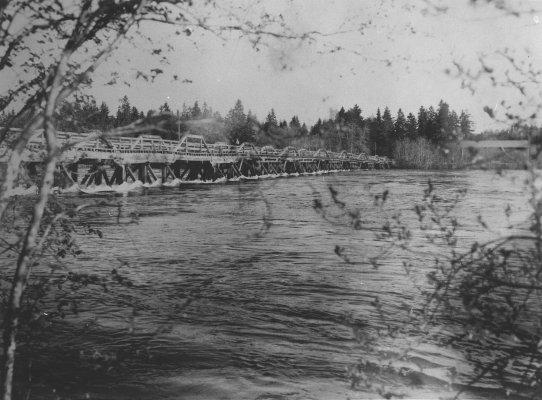 """Ljusnes """"berömda"""" masugnsbro uppfördes i slutet av 1870-talet och revs 1939"""