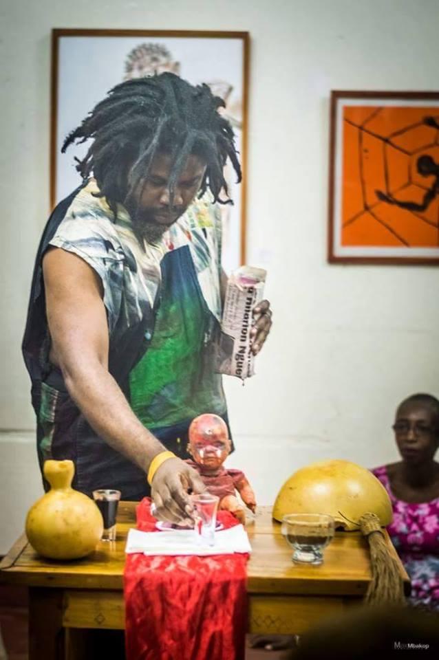 Eucharistica / Performance/Christian Etongo/assist. by Gabriella Badjeck/Musee la Blackitude Yaoundé Cameroon/2017