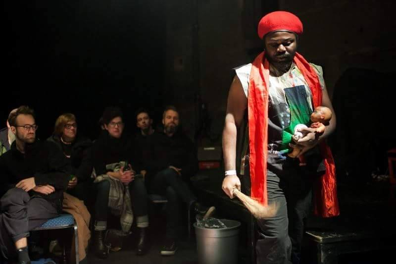 The Sounds Of Silence/ performance Christian Etongo/Bone performance festival Bern Suisse 2016