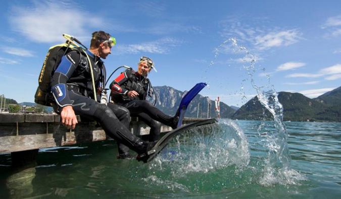 """Tauchen in den Salzkammergut Seen - ein abenteuerliches Erlebnis für alle """"Frösche"""""""