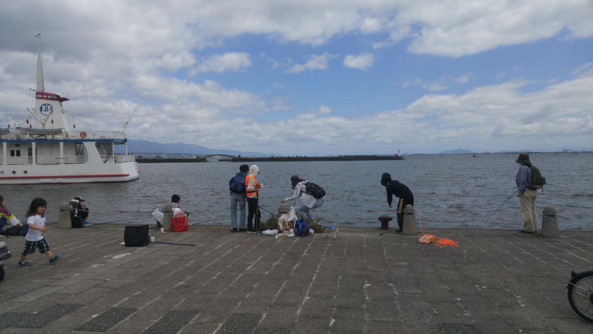 外来魚釣りin琵琶湖 メンバーの誰も釣れず・・でも楽しかった♪