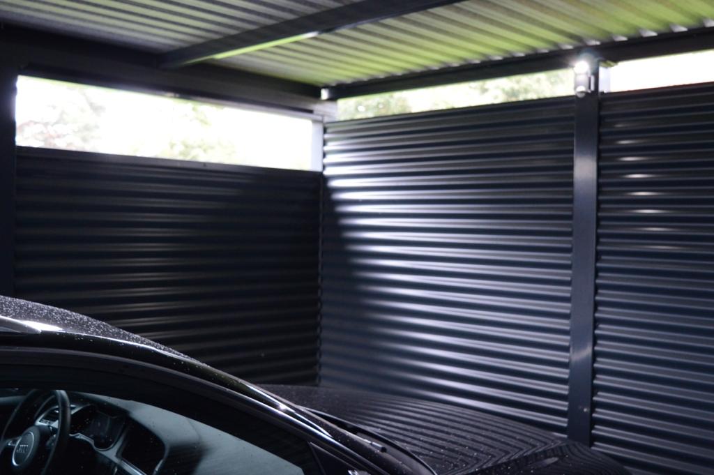 Stahlcarports doppelcarports schmiedez une - Garajes de metal ...