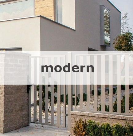Moderne Metallzäune