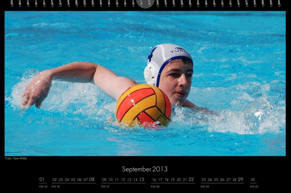 BSC-Kalender 2013 Wasserball-Männer, September