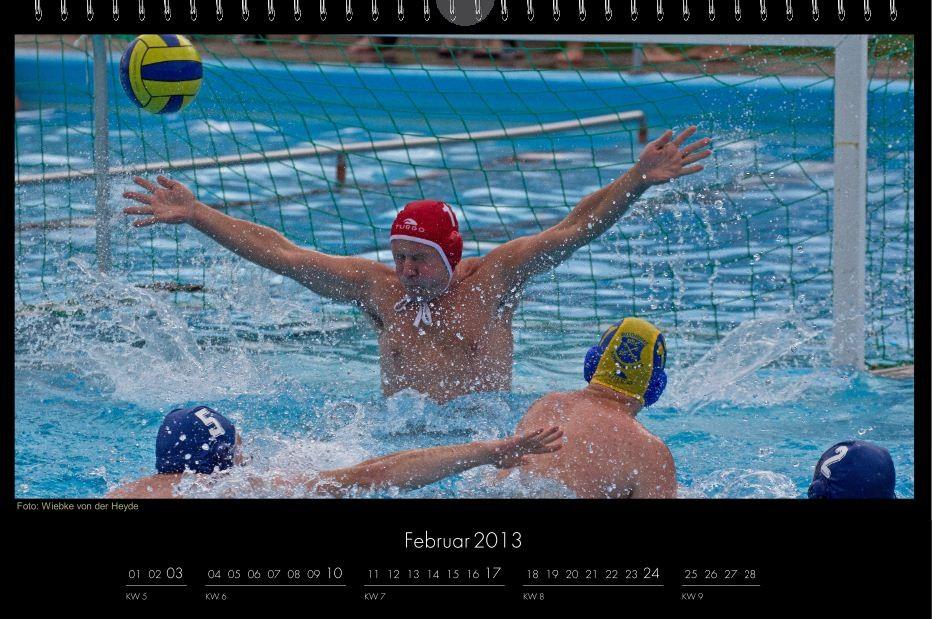 BSC-Kalender 2013 Wasserball-Männer, Februar
