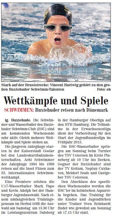 Neue Buxtehuder Wochenblatt vom 24.11.2012
