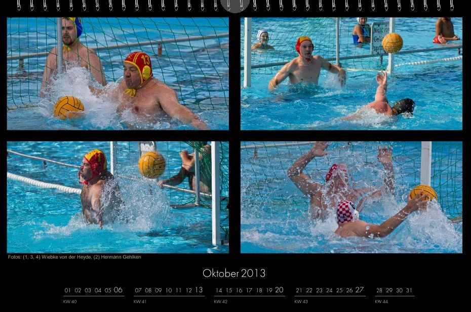 BSC-Kalender 2013 Wasserball-Männer, Oktober