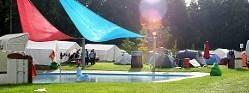 Campingplatz Freibad: 37 Mannschaften zelteten auf den Wiesen.
