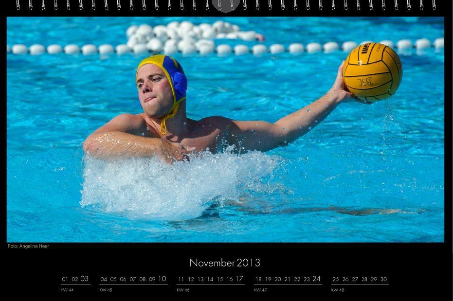 BSC-Kalender 2013 Wasserball-Männer, November