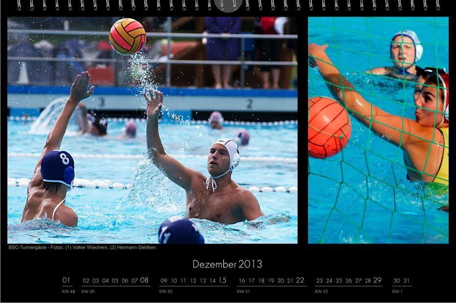 BSC-Kalender 2013 Wasserball-Männer, Dezember