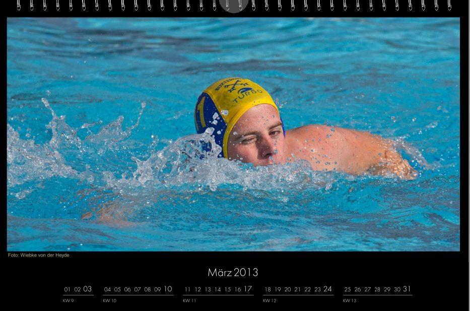 BSC-Kalender 2013 Wasserball-Männer, März
