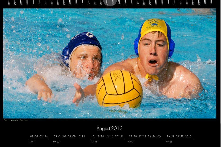 BSC-Kalender 2013 Wasserball-Männer, August