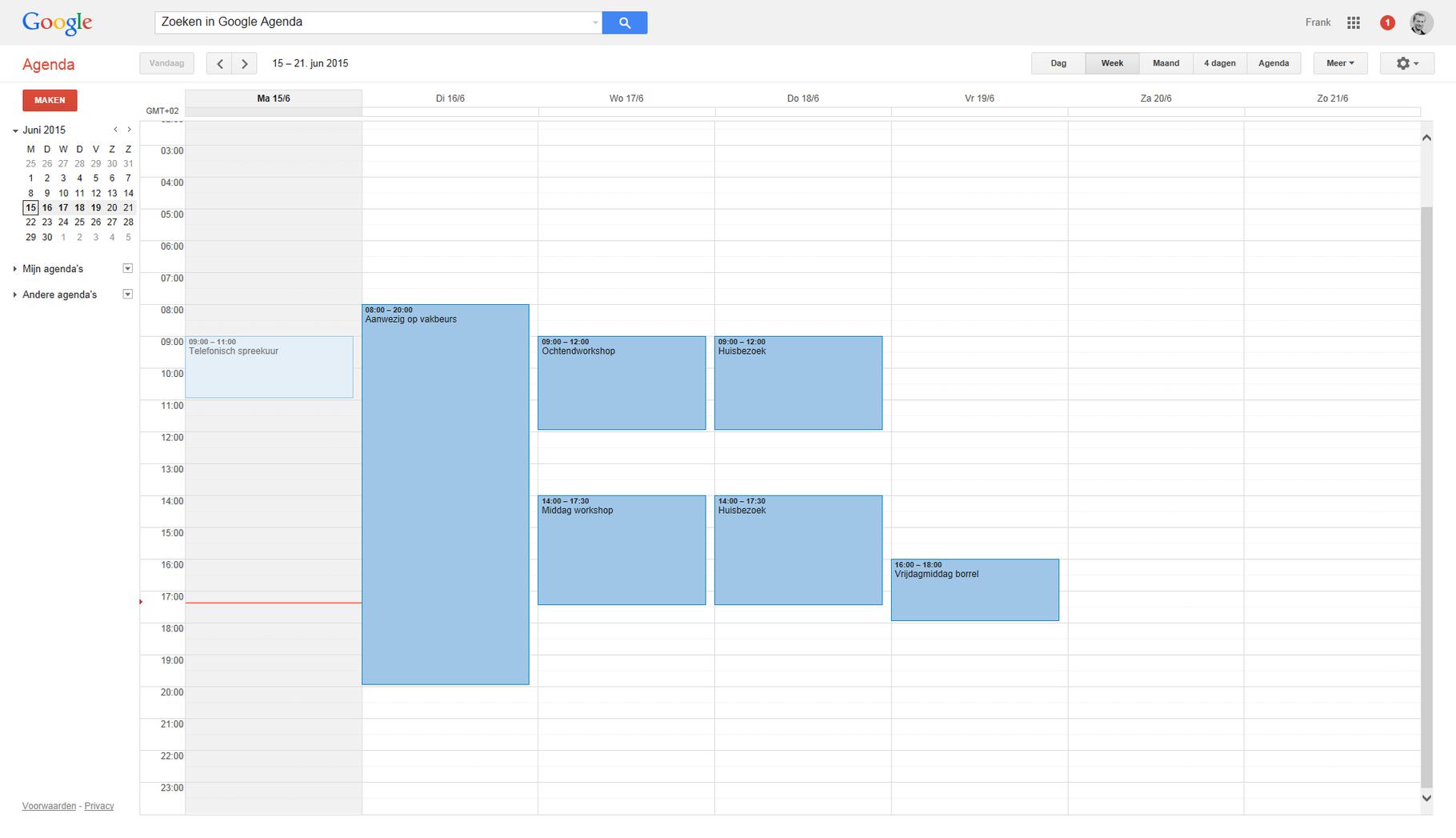 1. Ga naar je Google Agenda