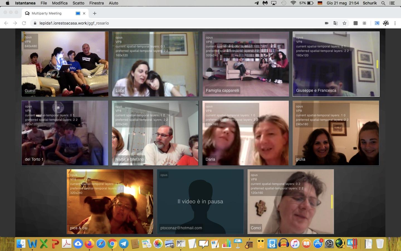 Recita del rosario online con le famiglie del GGf (maggio 2020)