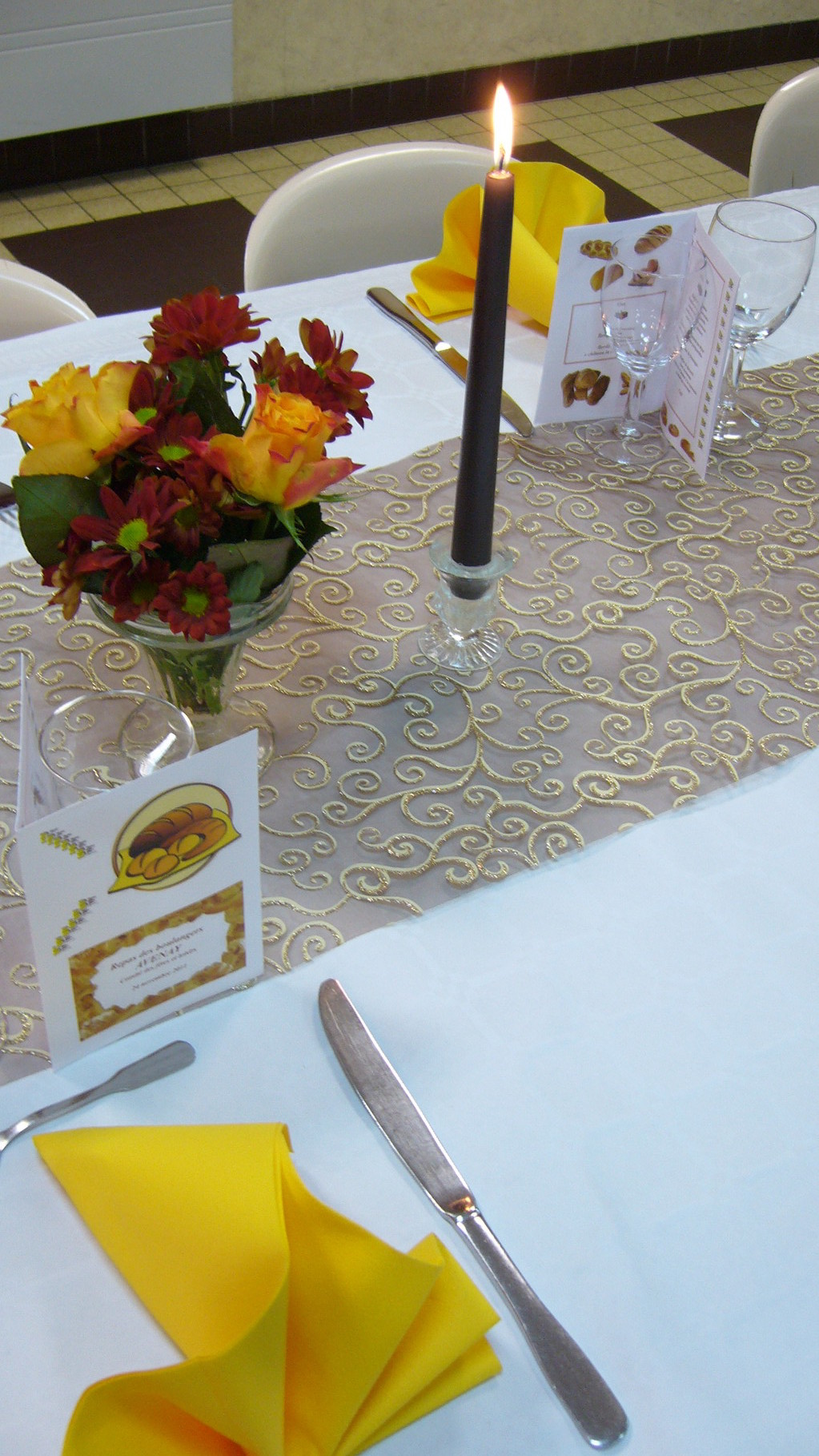 REPAS DES AINES DANET TRAITEUR décors de Table