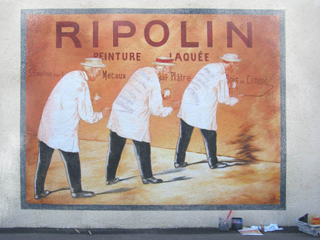 "Reproduction de l'affiche ""RIPOLIN"""