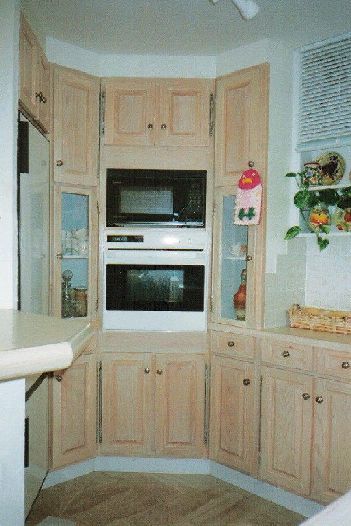 Intérieur de la cuisine 3mx3m - façades Lazurées