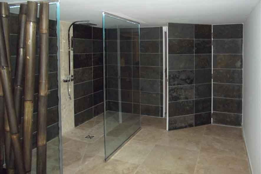 Bain et chambre harmonie concept decor for Ardoise pour salle de bain