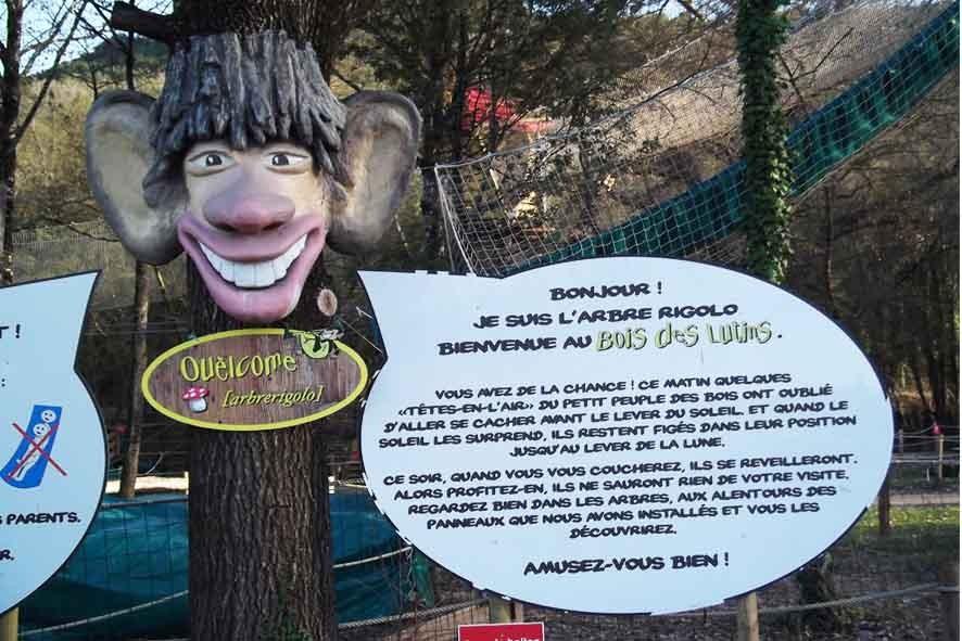 """Le Bois des Lutins - Personnage """"Ouelcome"""" arbre Rigolo"""