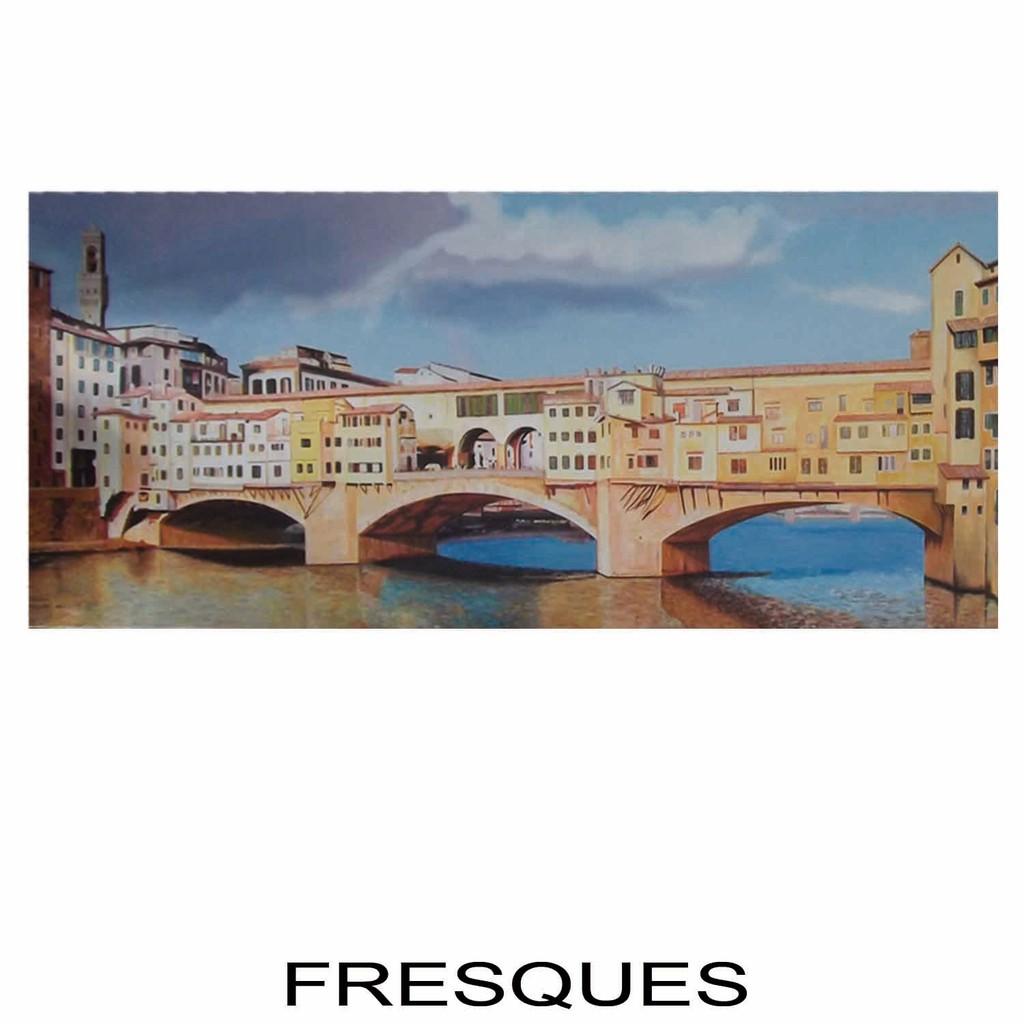 """Fresque sur Toile Marouflée - Le """"Ponte Vecchio"""""""