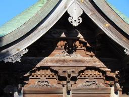 米子八幡神社妻飾り