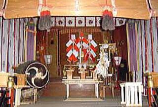 米子八幡神社・拝殿内部