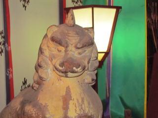 米子八幡神社・木彫狛犬・吽形