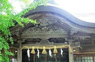 米子八幡神社・拝殿上部