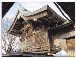 米子八幡神社本殿全景