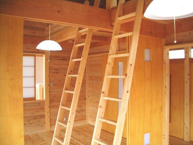 光と大空間の家の子供部屋にはロフトを設けている