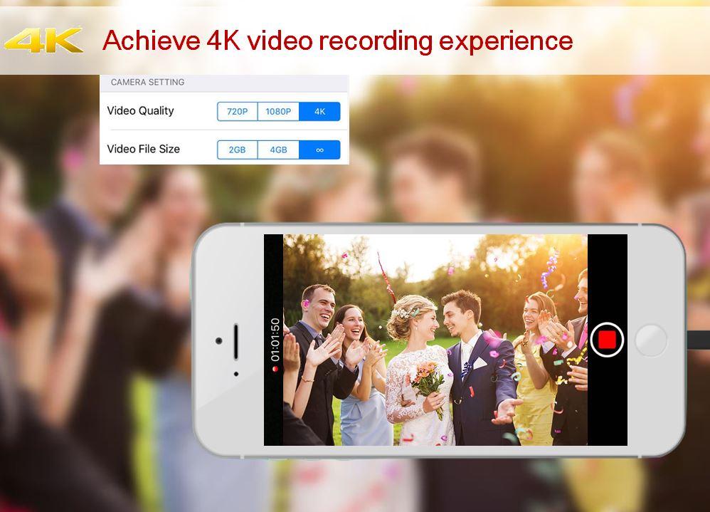 Erlebe 4K Video Aufnehmen!
