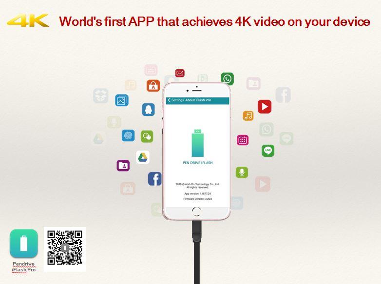 Die erste App, die 4K Video auf Deinem Gerät speicher und abspielen kann.