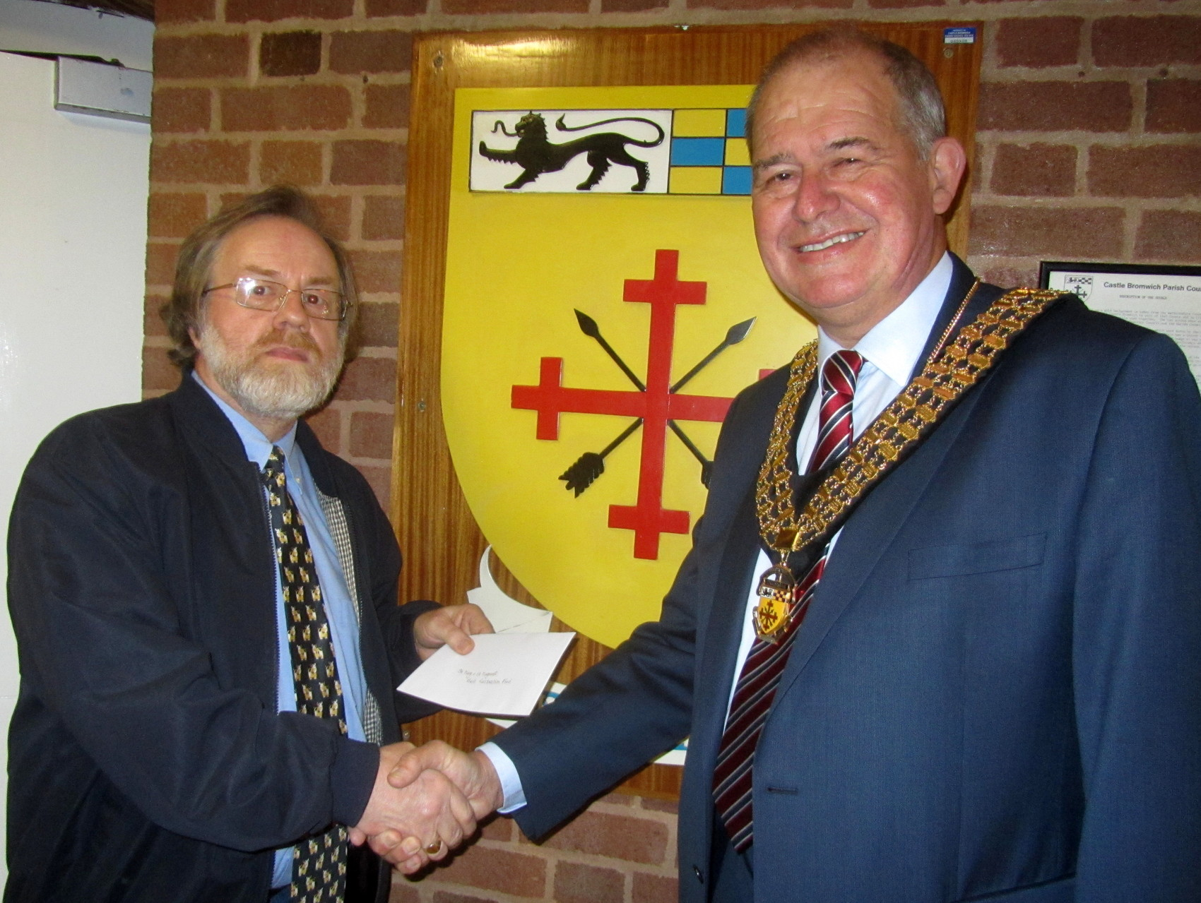 A kind donation from Castle Bromwich Parish Council for the Bell Restoration Project
