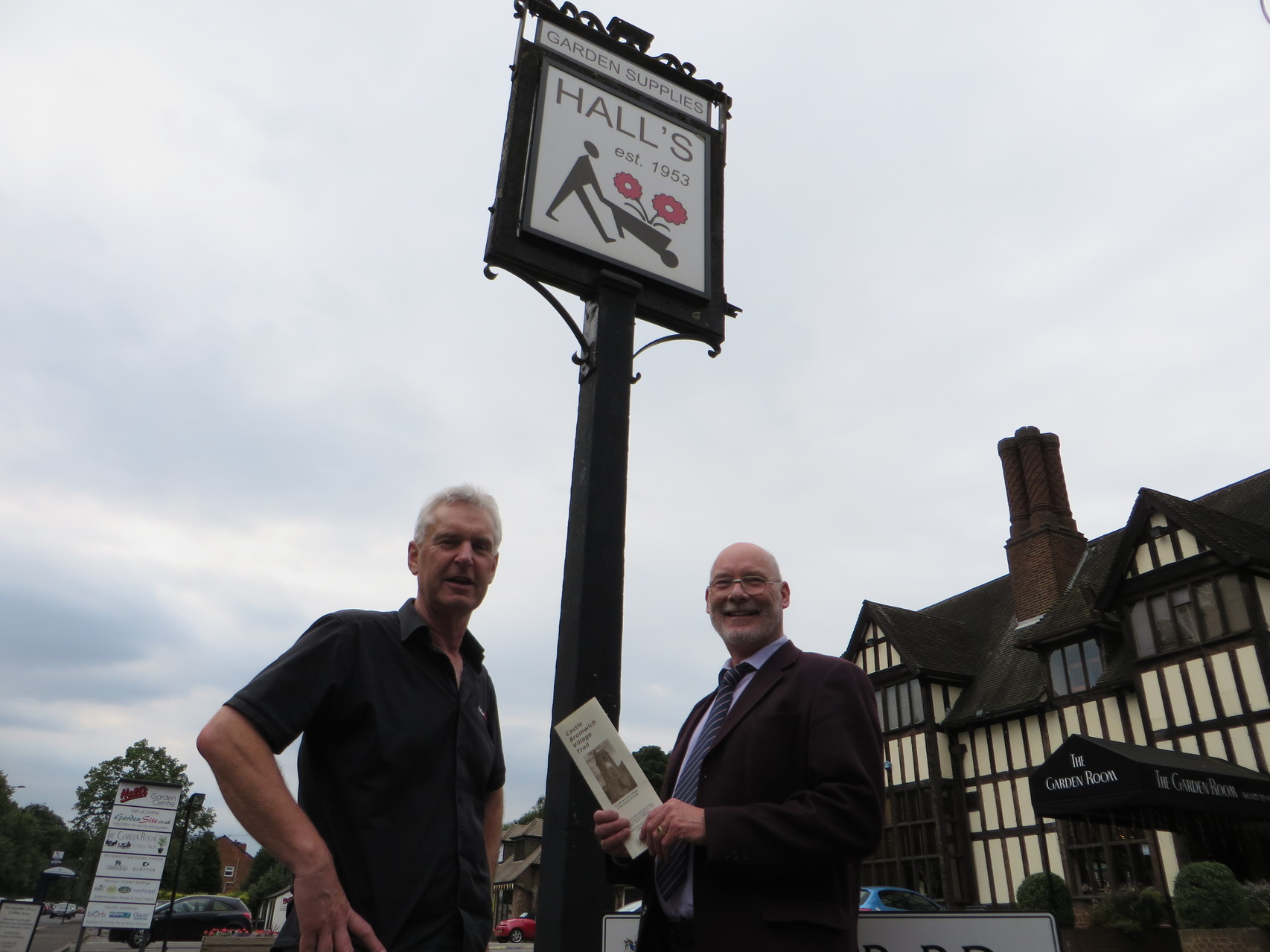 Robert Hall of Hall's Garden Centre sponsors our history booklets.
