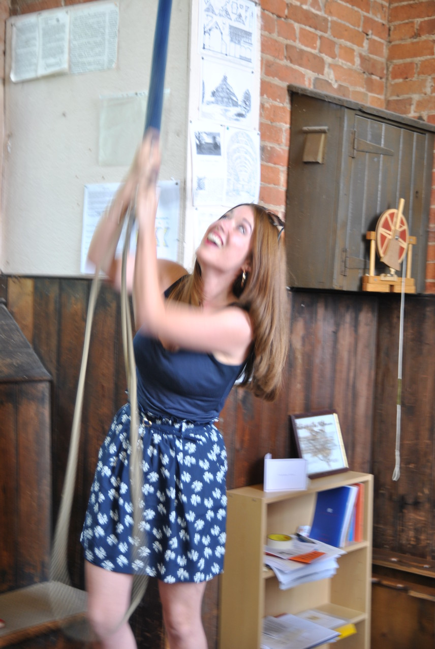 ITV Central News reporter Vicky Davies at the Garden fete 2013. She learnt to ring the bell at Castle Bromwich when she was a teenager