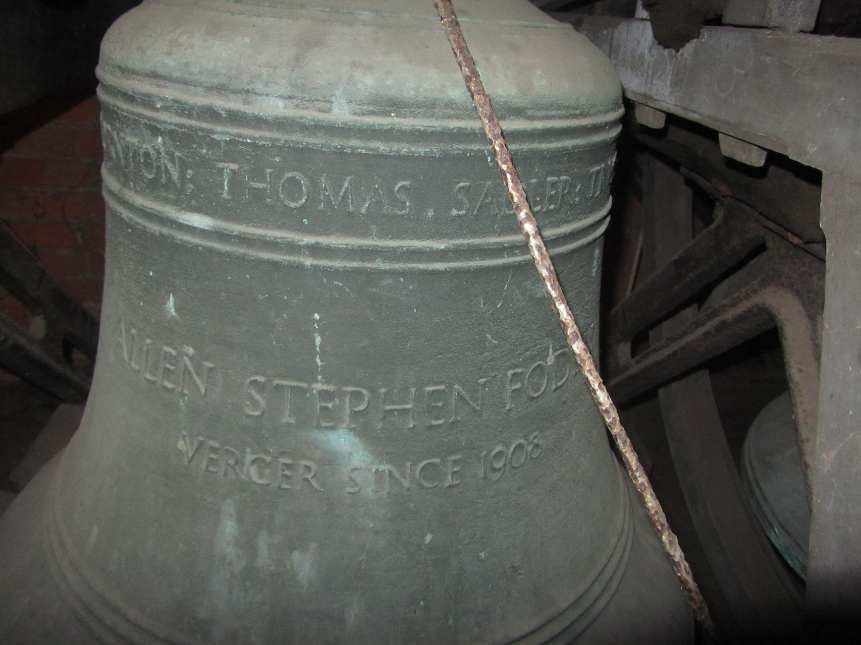 A bell in the down position