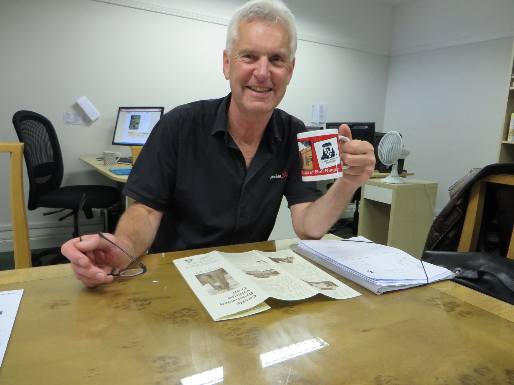 Robert Hall of Hall's Garden Centre - he's no mug!