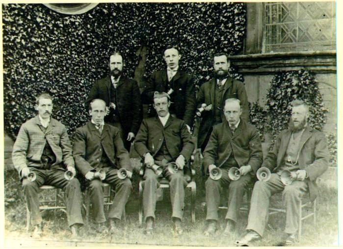 The earliest photograph of Castle Bromwich bellringers 1905