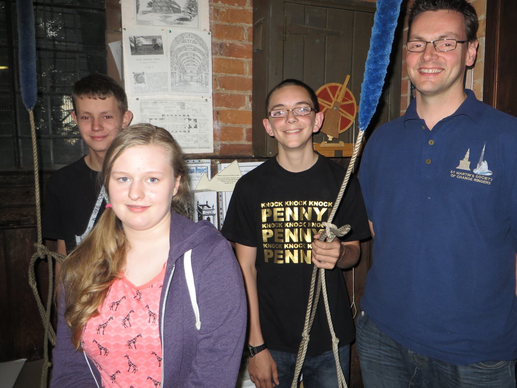 2013 Our youngest ringers with Guild master Tony Daw