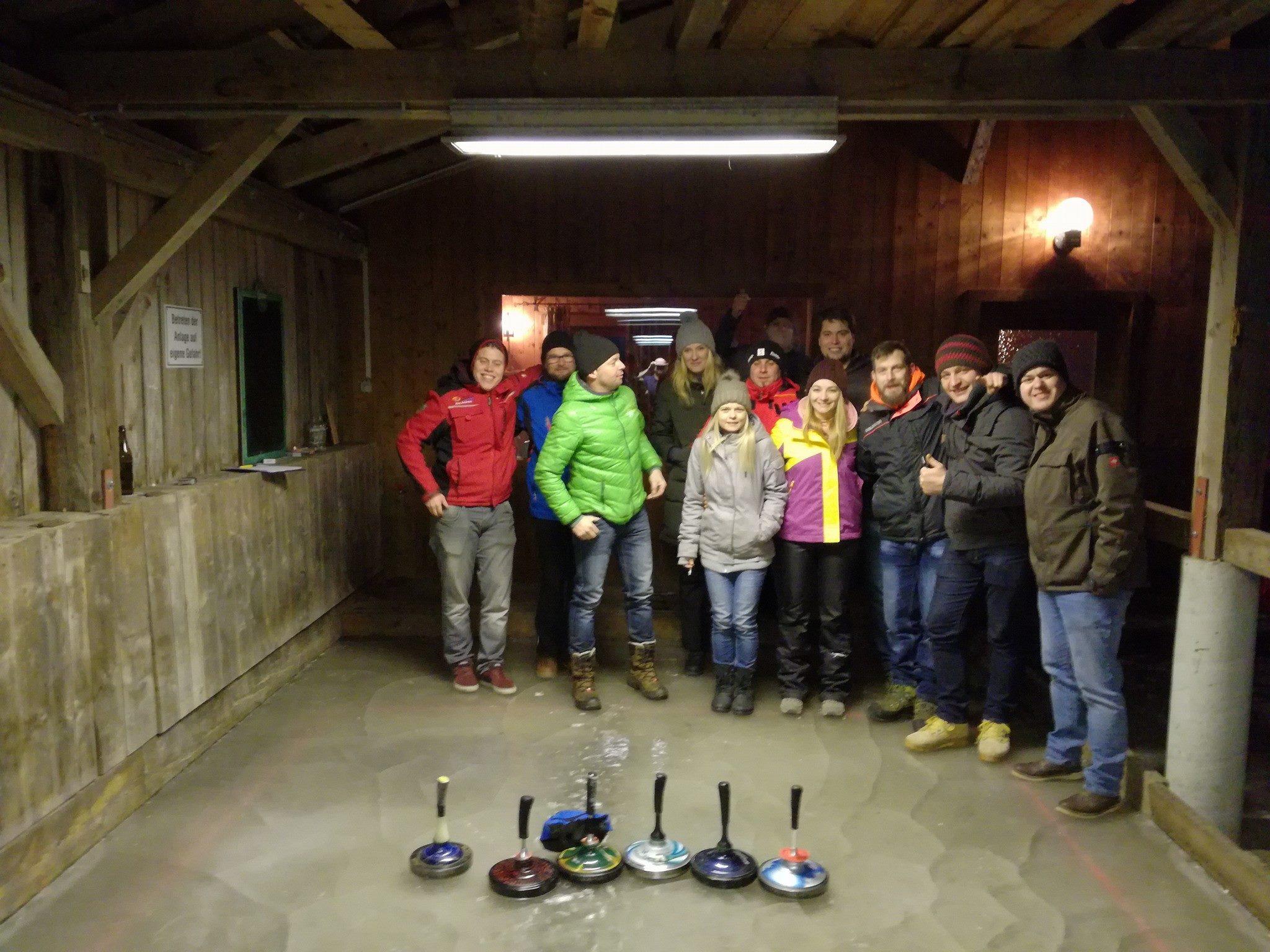 Eisstockpartie mit der Trachtenkapelle Deutsch-Griffen