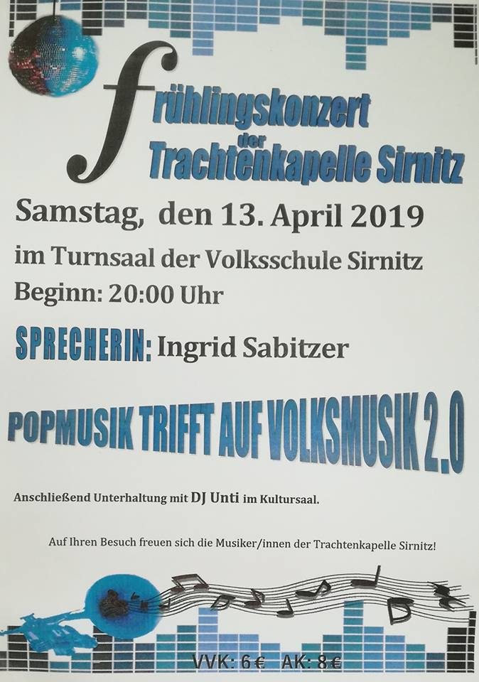 Offizielles Plakat zum Frühlingskonzert