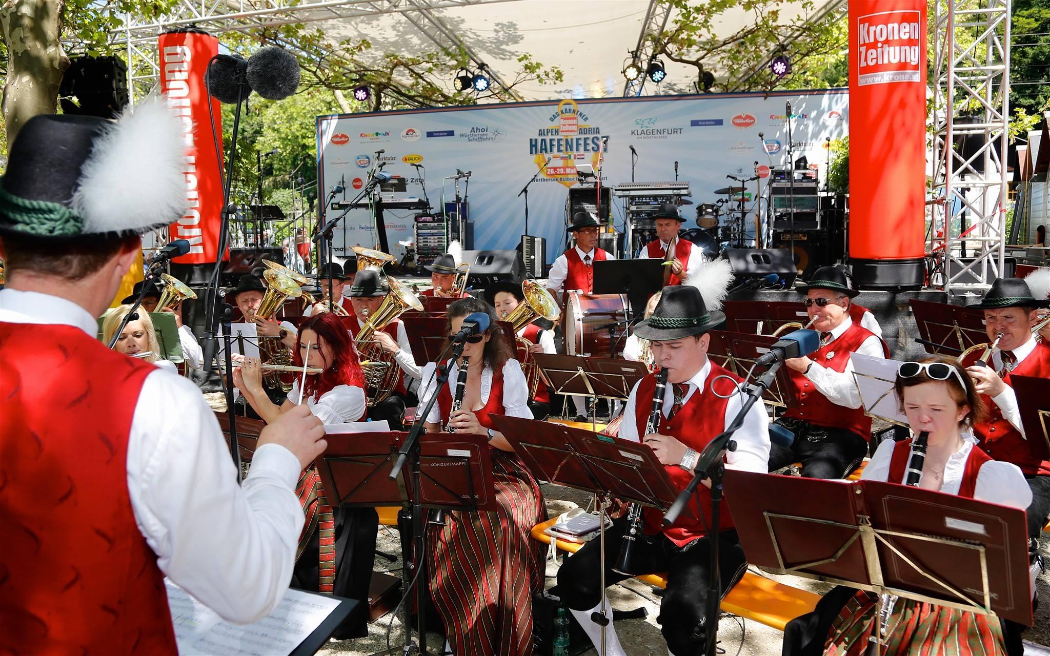 Konzert beim Hafenfest in Klagenfurt