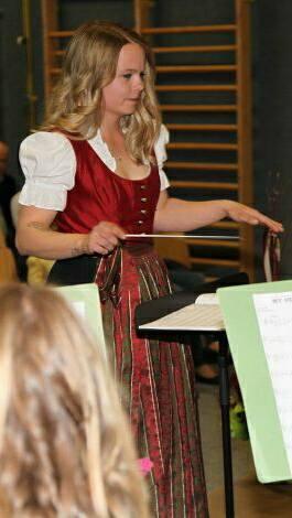 Kapellmeister-Lehrling Martina Weger
