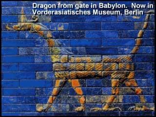 Drache auf Babylonisches Tor in Berlin